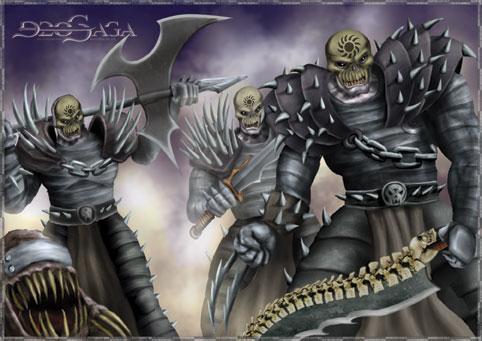 Tropas Necropianas - Guerreiros Nors e um Necrofagi