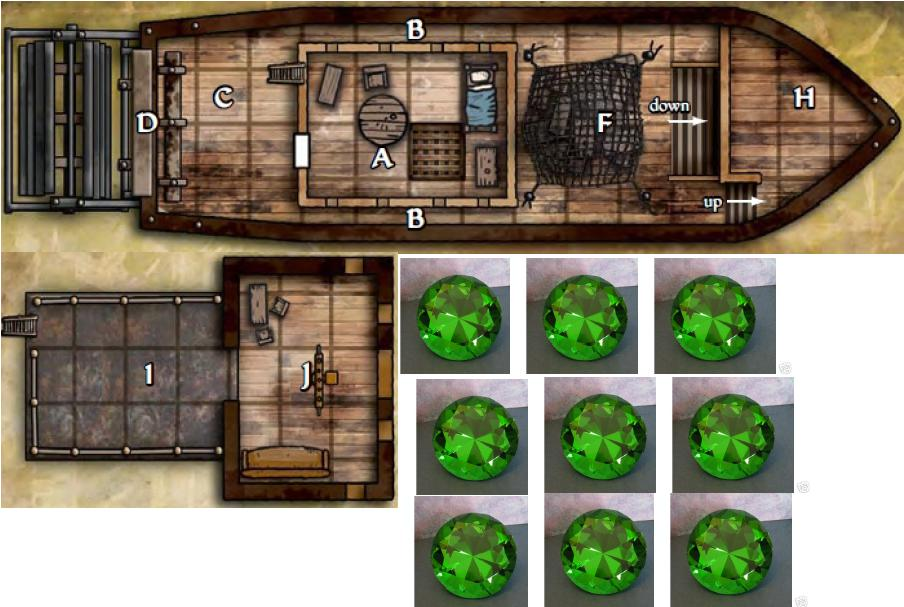 Download de Mapa de Barco para Miniaturas de Dungeons and Dragons