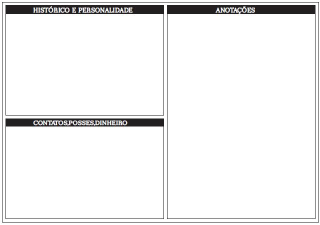 Ficha de Personagem Sistema +2d6 Costas