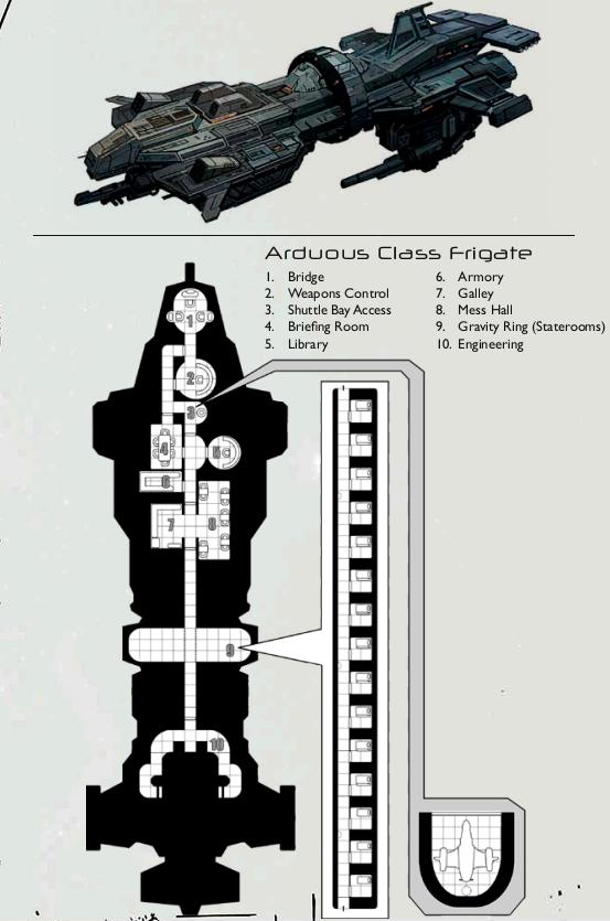 MAPA DA NAVE ROMULUS  - SPACE CHTULHU