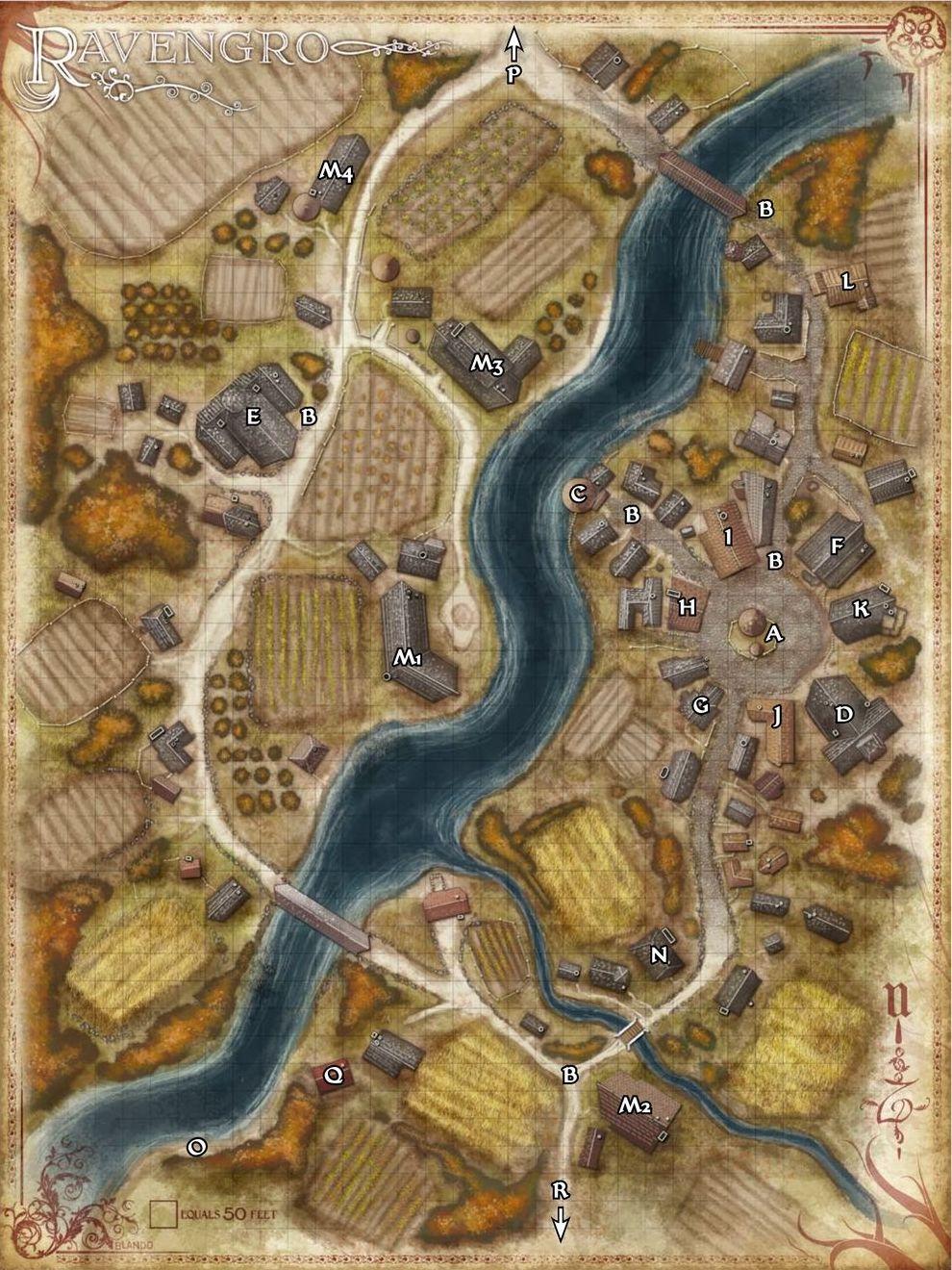 Mapa de Ravengro