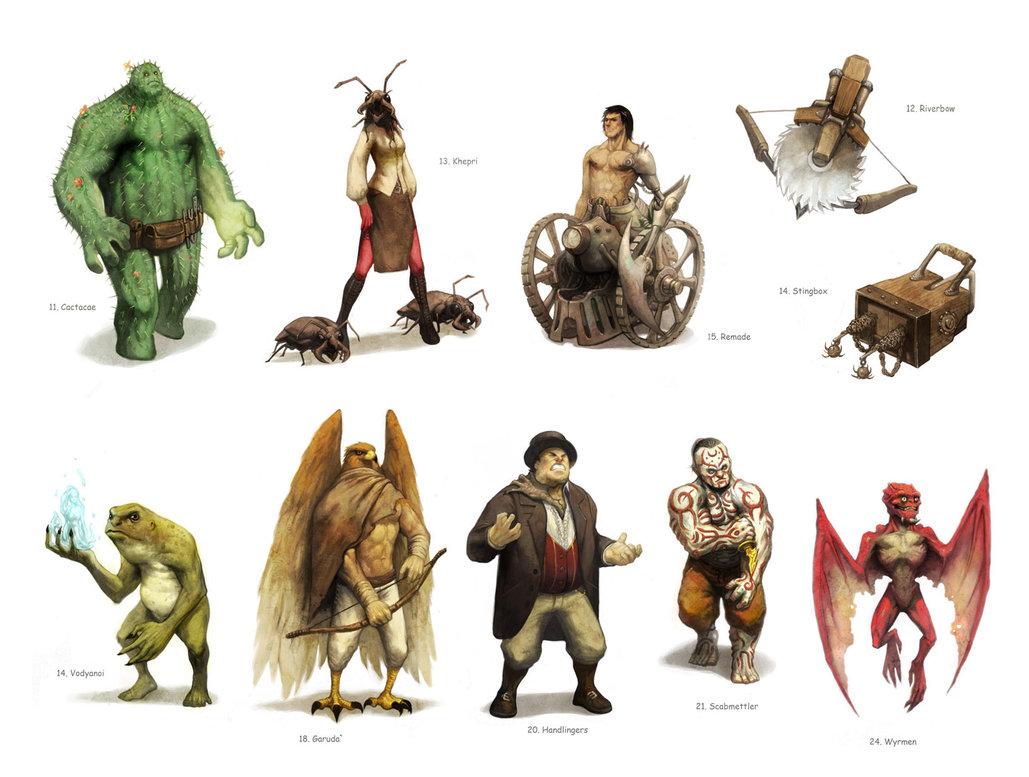Algumas das trocentas raças de Bas-Lag