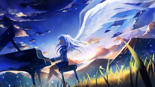mountains_clouds_wings_piano_angel_beats_long_hair_tachibana_kanade_closed_eyes_white_hair_anime_gir_Wallpaper_1920x1080_www.wallpaperswa.com