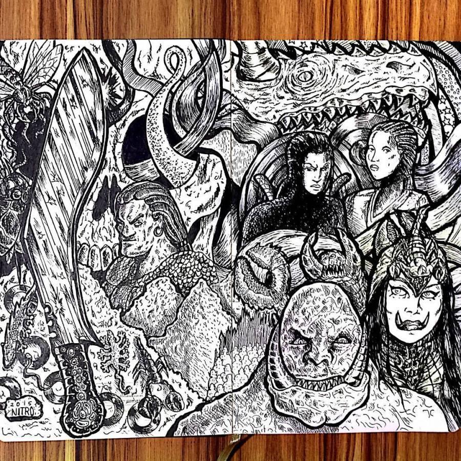 Marca da Caveira Ilustração Trilogia Legião Newton Nitro