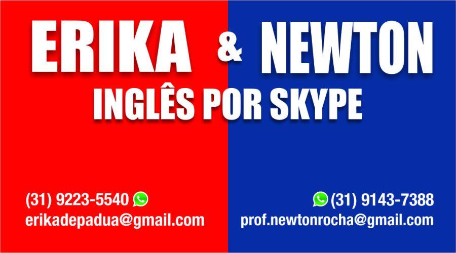 erika e newton ingles por skype - imagem no final de vídeo