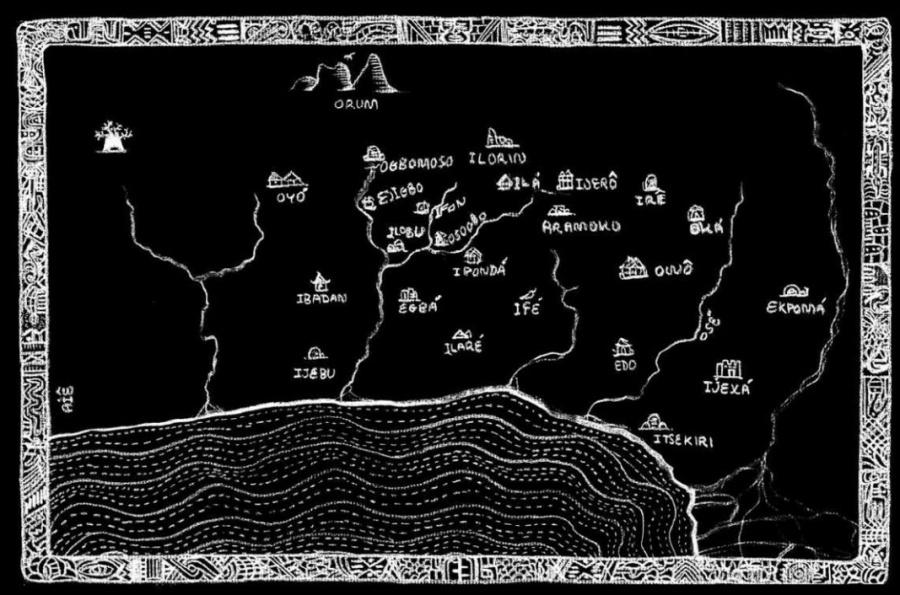 mapa Deuses dos Dois Mundos