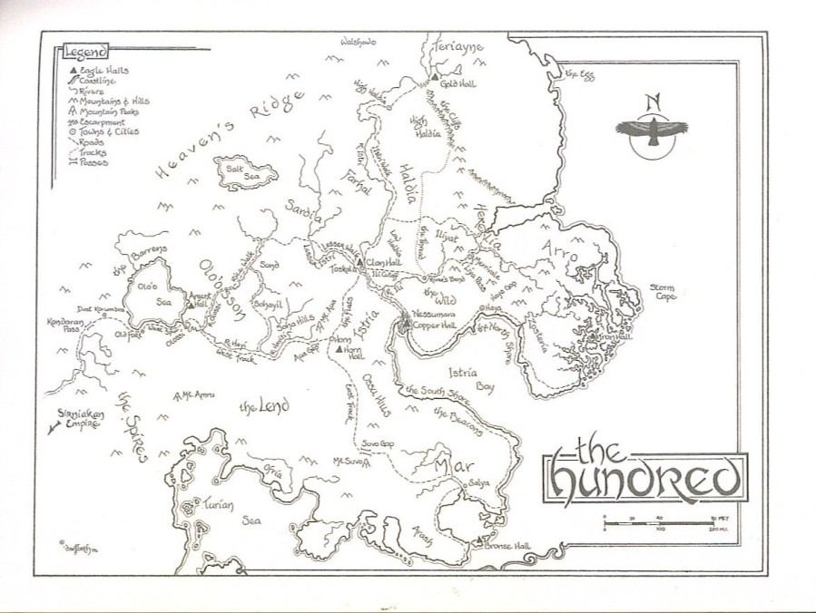 Black Wolves - Kate Elliot - Map of The Hundred
