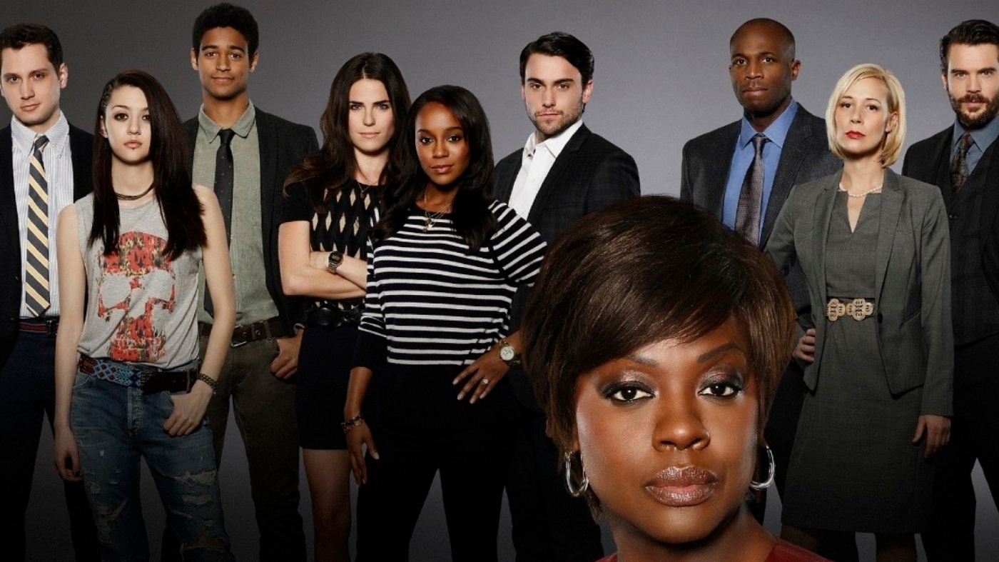 "HOW TO GET AWAY WITH MURDER - ABC's ""How to Get Away with Murder"" stars Viola Davis as Professor Annalise Keating, Billy Brown as Nate, Alfred Enoch as Wes, Jack Falahee as Connor, Katie Findlay as Rebecca, Aja Naomi King as Michaela, Matt McGorry as Asher, Karla Souza as Laurel, Charlie Weber as Frank and Liza Weil as Bonnie. (ABC/Craig Sjodin) BACKGROUND: MATT MCGORRY, KATIE FINDLAY, ALFRED ENOCH, KARLA SOUZA, AJA NAOMI KING, JACK FALAHEE, BILLY BROWN, LIZA WEIL, CHARLIE WEBER; FOREGROUND: VIOLA DAVIS"