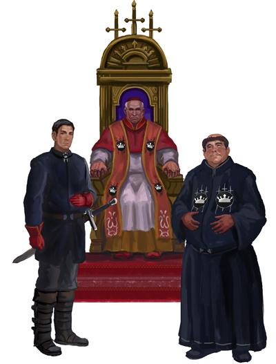 Lorde Papal - Líder da Igreja Patriarca, um Paladino Patriarca e um Padre Patriarca