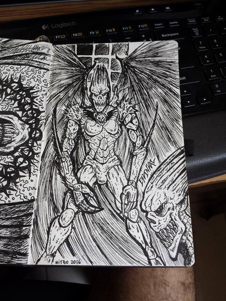 Espinhal, um Demônio (ou Anjo?) | Marca da Caveira | Trilogia Legião Vol.1 | Ilustração: Newton Nitro - Outubro 2016